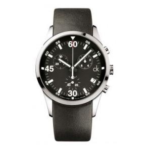 Watch strap Calvin Klein K2227136 / K600058950 Leather Black