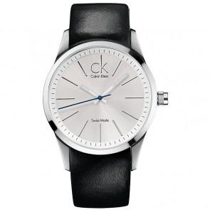 Watch strap Calvin Klein K2241126 Leather Black