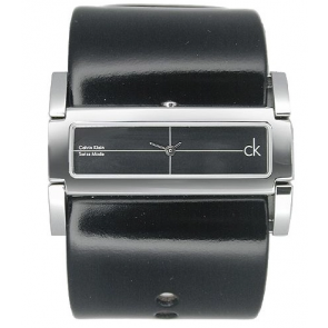 Watch strap Calvin Klein K44231 Leather Black