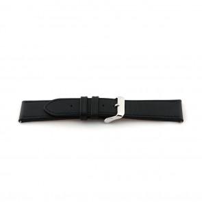 Leather strap extra long black 24mm EX-K63487