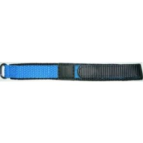 Watch strap Universal KLITTENBAND 412R Licht Blauw Velcro Blue 14mm