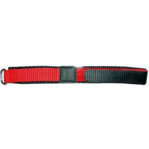 Velcro watch strap 20mm red