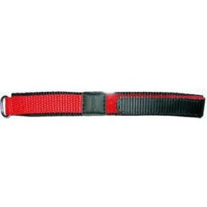 Watch strap Universal KLITTENBAND 412R Velcro Red 20mm