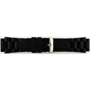 Watch strap Universal SL101 Silicone Black 20mm
