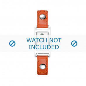 Lacoste watch strap 2000385 / LC-05-3-14-0009 Leather Orange 12mm + white stitching