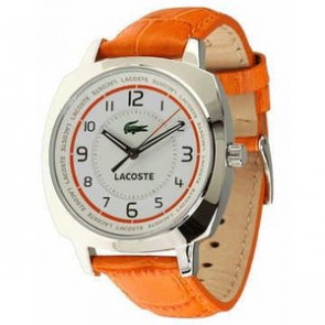 Watch strap Lacoste 2000600 / LC-47-3-14-2233 Leather Orange 18mm