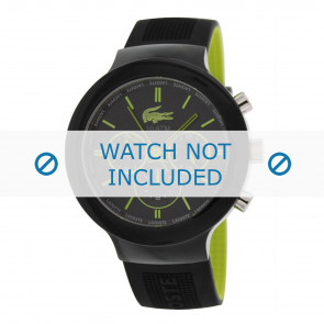 Lacoste watch strap 2010650 / LC-61-1-29-2347 Rubber Black 16mm