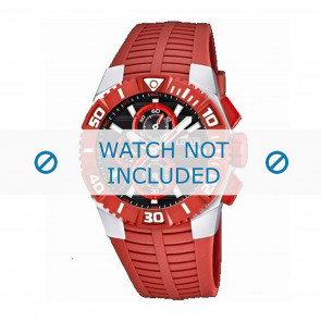 Lotus style watch strap 15778.2 Rubber / plastic Red