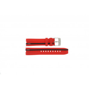 Watch strap Lotus 15881/2 Rubber Red 22mm