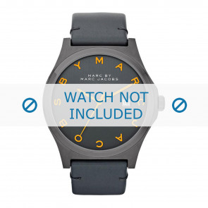 Marc by Marc Jacobs watch strap MBM1216 Leather Anthracite grey + grey stitching