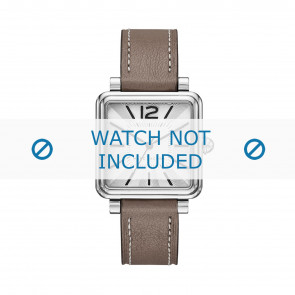 Marc by Marc Jacobs watch strap MJ1518 Leather Taupe 16mm + white stitching