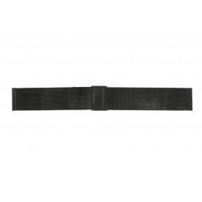 Watch strap WoW MESH-22.1.5BL Steel Black 22mm