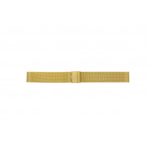 Watch strap Other brand MESH18.1.5 Steel Gold plated 18mm