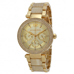 Watch strap Michael Kors MK5956 Steel Gold plated