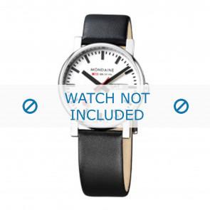 Mondaine watch strap A667.30344.11SBB Leather Black 20mm