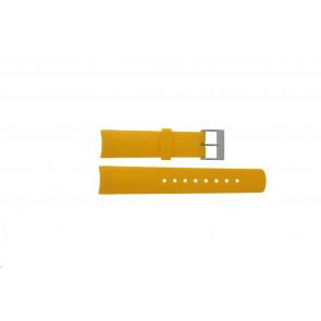 Nautica watch strap 31507G Rubber Yellow 22mm