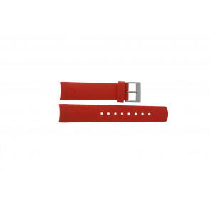 Nautica watch strap A18639G / A09902 / A37508G / N19524 / A13548G / A36003 / A13015 / N14611G Rubber Red 22mm