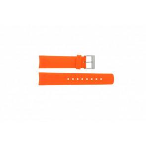 Nautica watch strap A16567G / A31505G / N14538G / N19523 / A16567G / N14612G / A13010G / A09904G Rubber Orange 22mm