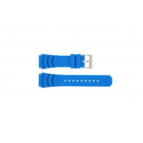 Nautica watch strap A18631 Rubber Light blue 22mm