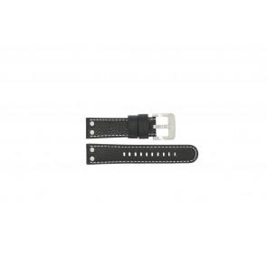 TW Steel watch strap TWB22 / TW22 Leather Black 22mm + white stitching