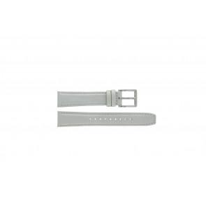 Watch strap DKNY NY8585 Leather Grey 18mm