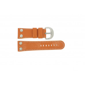 Watch strap Universal OVR-ORANJE-28MM Leather Orange 28mm