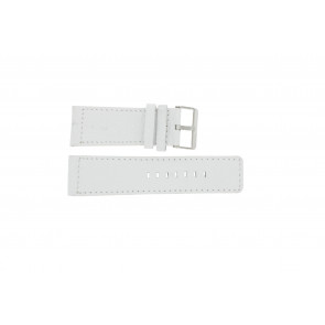 Watch strap Universal OOZOO-WIT-28MM Leather White 28mm