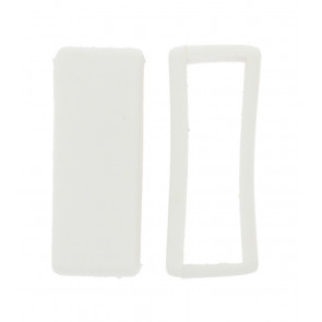 Watch strap keeper rubber white 16mm
