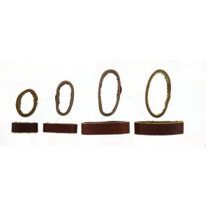 Watch strap keeper leather brown 10mm