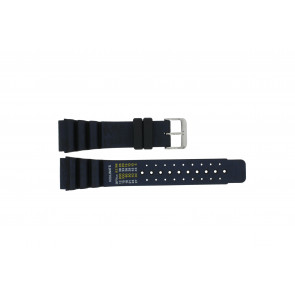 Dutch Forces watch strap 12750-BL Rubber / plastic Blue 24mm
