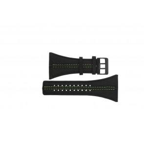Watch strap Police PL13497JSB.02 / GR Leather Black 44mm