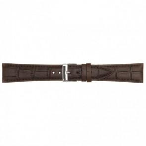 Leather watchstrap darkbrown 18mm PVK-497