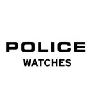 Police watch strap PL-14385J Leather Black