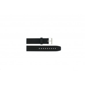 Watch strap PU.102 Plastic Black 20mm