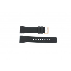 Watch strap Pulsar W861-X006 / PQ2046X1 / PP255X Rubber Black 24mm