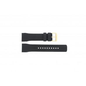 Pulsar watch strap W861-X006 / PQ2048X1 / PP256X Rubber Black 24mm