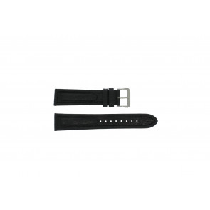 Watch strap Pulsar Y182-6C100 Leather Black 20mm