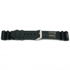 Watch strap Universal XF13 Rubber Black 18mm