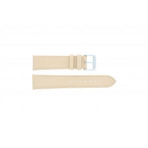 Watch strap genuine leather salmon / ocher color 24mm 283