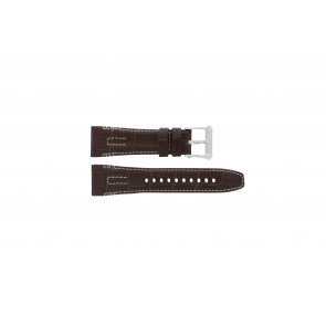 Seiko watch strap 5D44-0AE0 / SRH011P1 Leather Brown 26mm + white stitching
