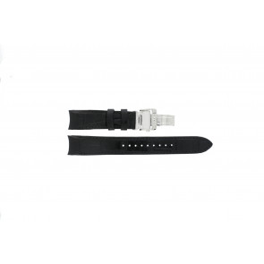 Watch strap Seiko 6G34-00E0 / SRL021P1 Leather Black 21mm