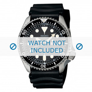 Watch strap Seiko 7S26-0020-SKX007K1 Rubber Black 22mm