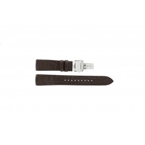 Watch strap Seiko 7T04-0AA0 / SPC059P1 / 4A071JL Leather Brown 21mm