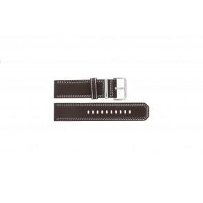 Watch strap Seiko 7T62-0HM0 / SNAB71P1 / 4LP6JB Leather Brown 24mm