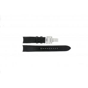 Seiko watch strap SNA741P2 / 7T62-0GE0 Leather Black 22mm + black stitching