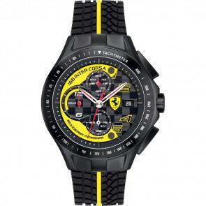 Watch strap Ferrari SF.03.1.34.0054-Y Silicone Black