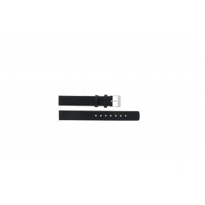 Watch strap Skagen 355SSLW / 355SSLB Leather Black 14mm