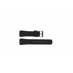 Skagen watch strap 856XLBLB / 856XLBLN Croco leather Black 24mm