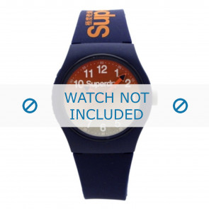 Superdry watch strap SYG198UO Plastic Blue