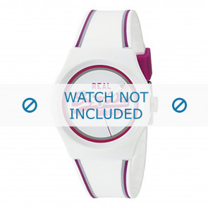 Superdry watch strap SYG198WR Plastic White